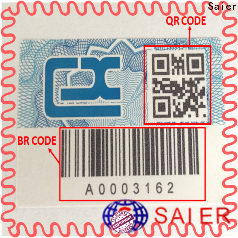 promotional security scratch off labels from China for package